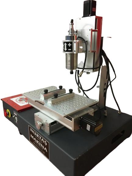 3 veya 4 Eksenli CNC Makinası